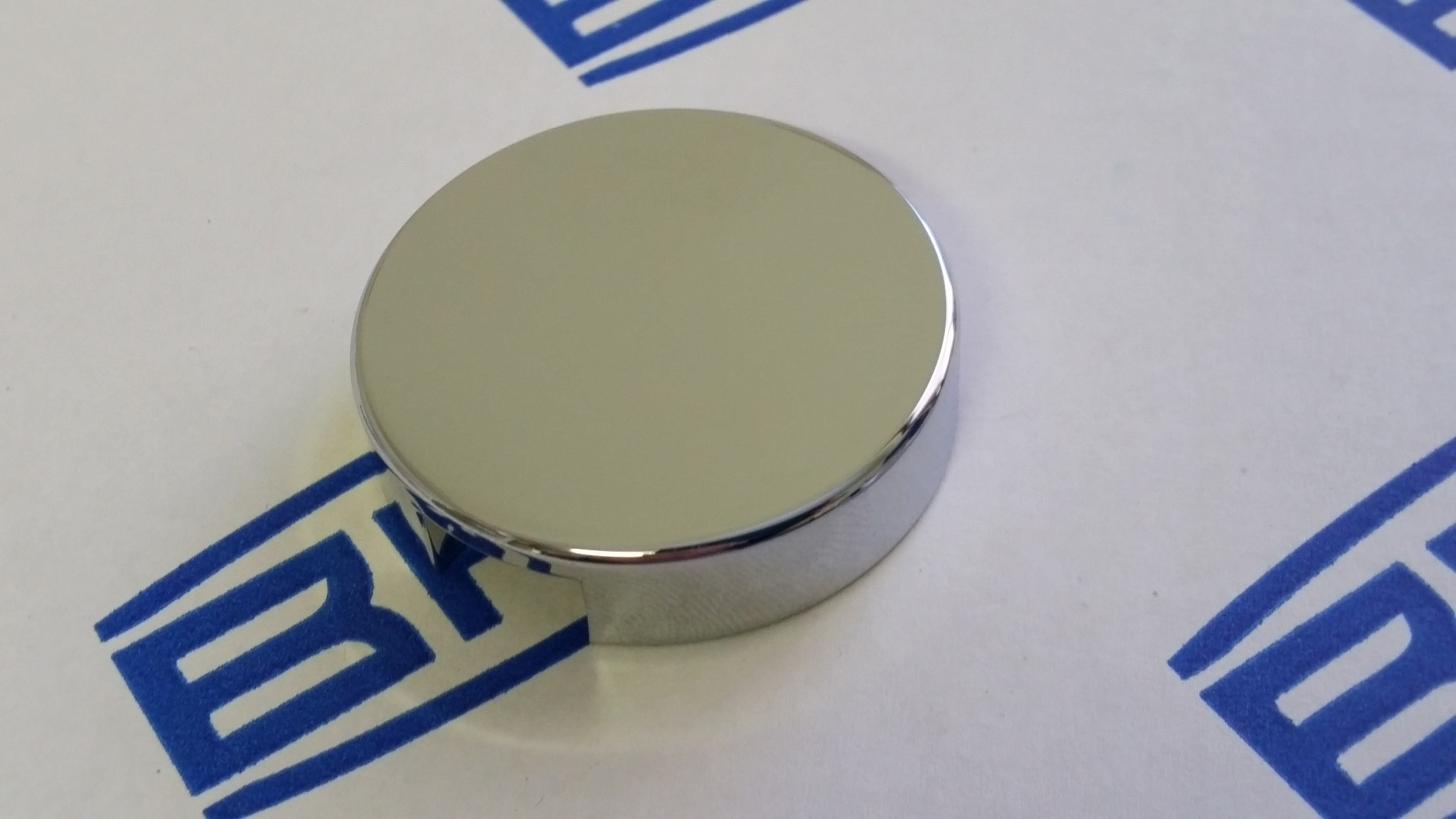 Chrome Cover for Windscreen Washer Bottle Cap, Suit 39 5mm BLACK cap